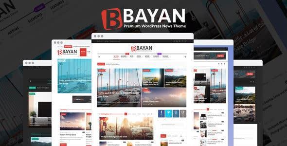 Bayan- Newspaper, and Magazine WordPress dark theme