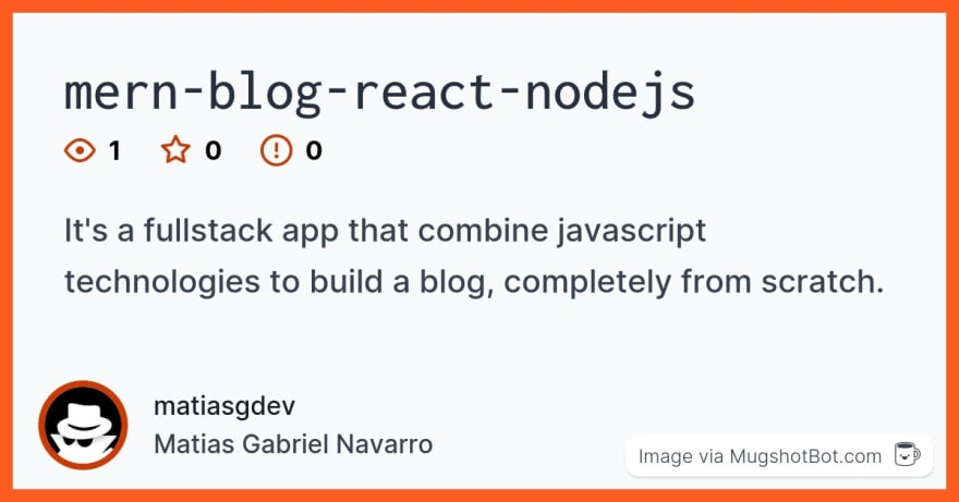 mern-blog-react-nodejs social preview via Mugshot Bot