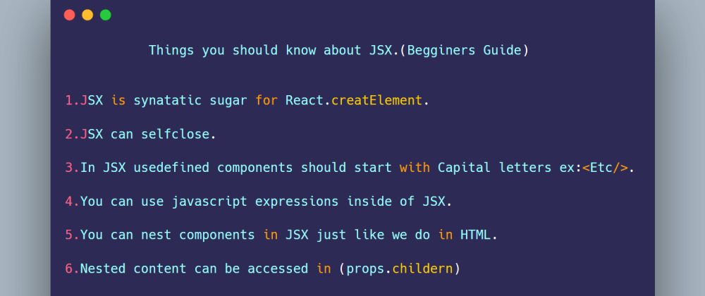 Cover image for JSX beginners guide