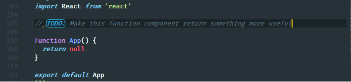 todo default highlight