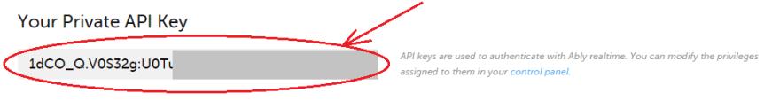 Ably Private API_KEY