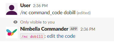 Nimbella commander code edit for digitalocean bill commandset
