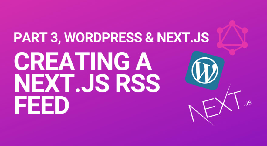 Blog header for creating an RSS feed with Next.js