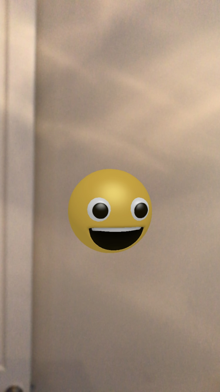 Hovering smiley face