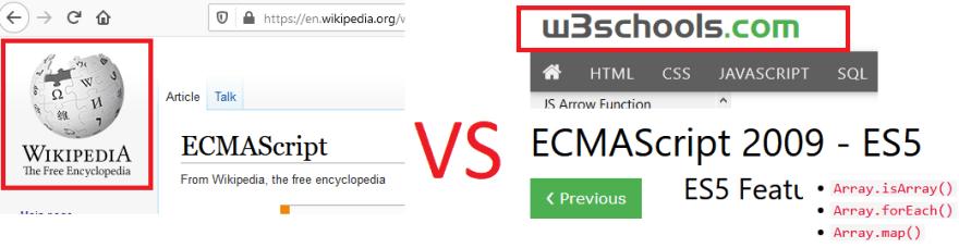 wikipedia versus w3schools throwdown