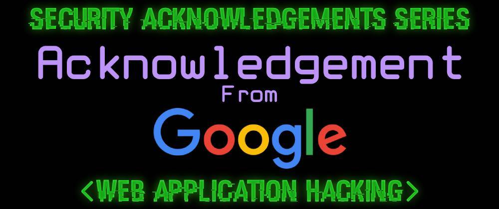 Cover image for Acknowledgement From Google