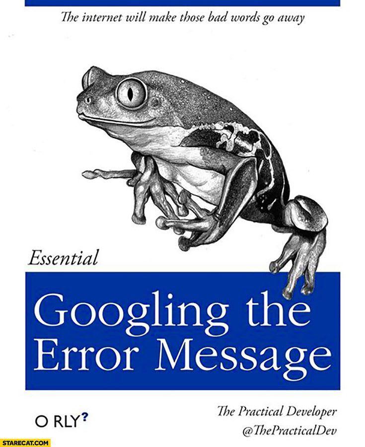 Googling the error message