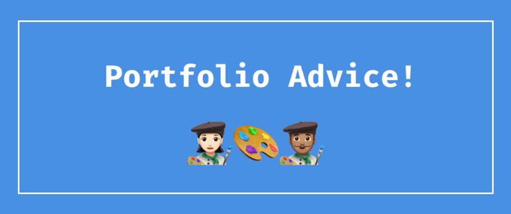 Cover image for Portfolio Advice Thread