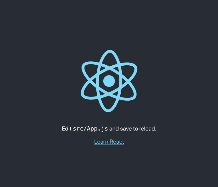 Create React App Default View
