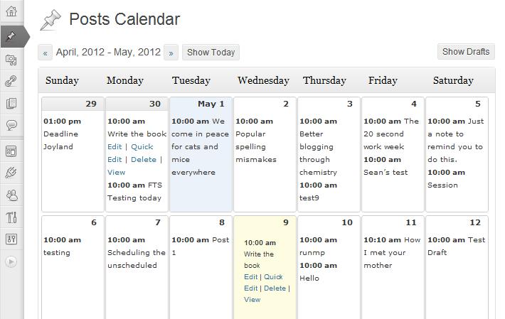 Editorial Calendar Plugins