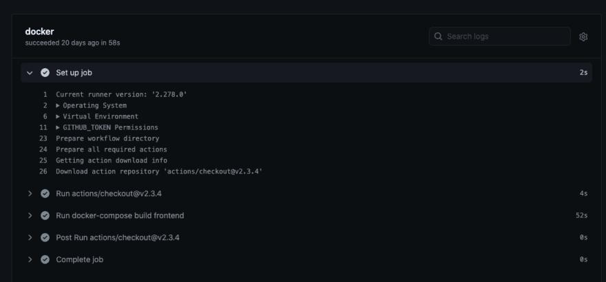 Slow docker-compose build job on the GitHub hosted runner