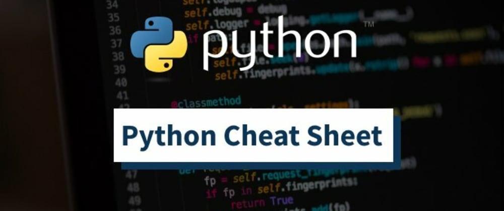 Cover image for Python Cheatsheet