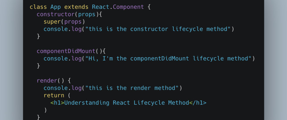 Cover image for Understanding React lifecycle methods
