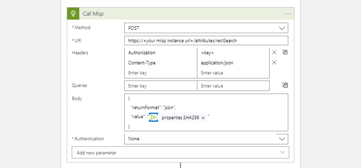 Using MDATP Streaming API with Misp