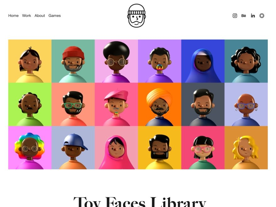 Toy Faces Library