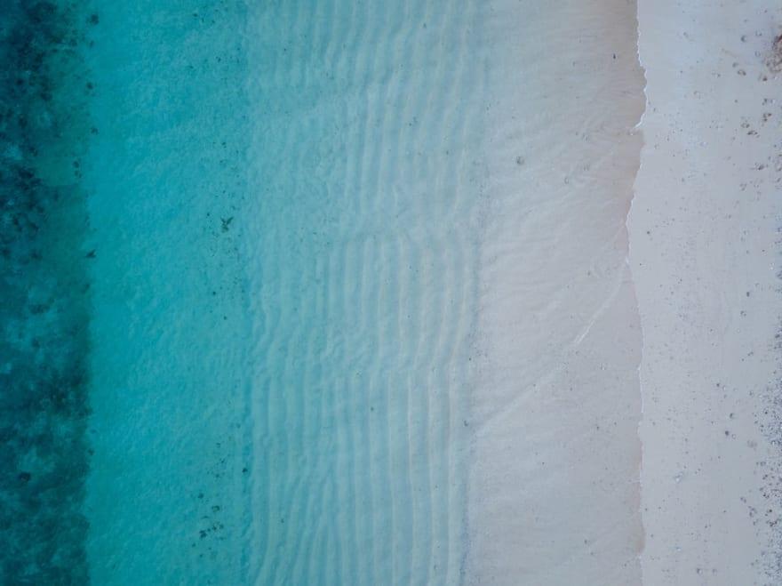 Transitioning sand