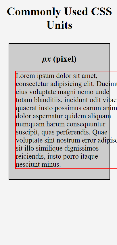 Paragraph with font-size in pixels in smaller viewport