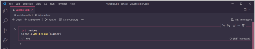 Default value of variable