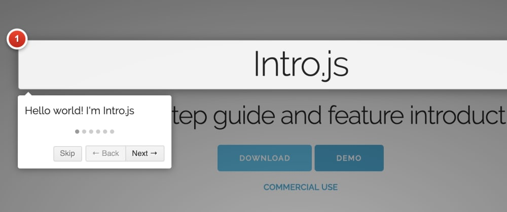Cover image for Show Users How To Use Your App With A Step-By-Step Guide With Intro.js  In Angular