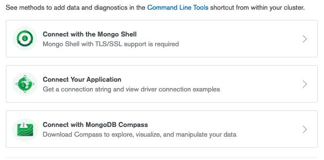 MongoDB connection method