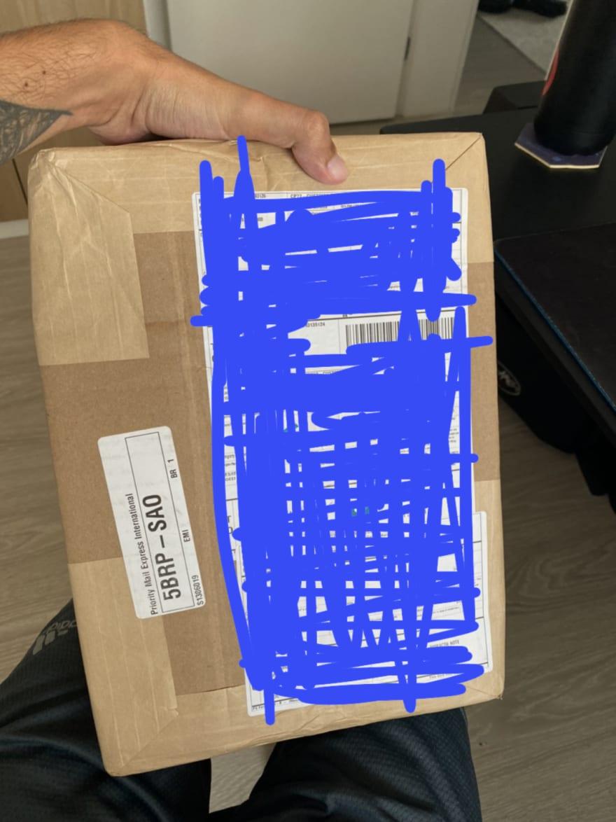 Caixa da encomenda