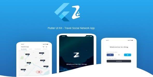 Flutter Travel Social Network App UI