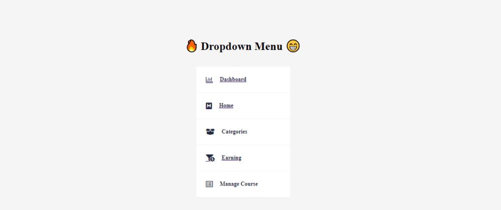 Cover image for Make Dropdown Menu with Vanilla JavaScript