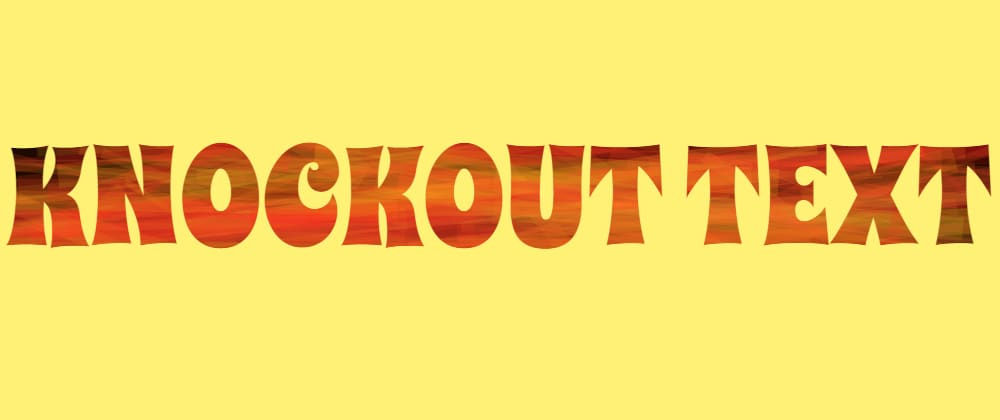 Cover image for Generating Knockout Text with the CSS Paint (Houdini) API