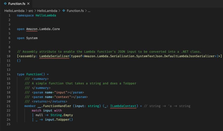 Initial errors in VS Code