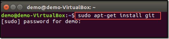 installing git using terminal, sudo, and apt-get on Ubuntu
