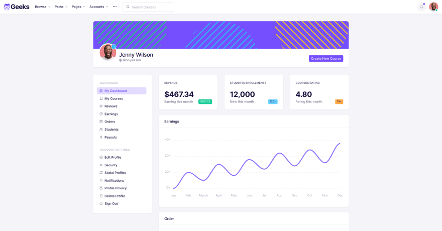 Geeks - Bootstrap theme for education