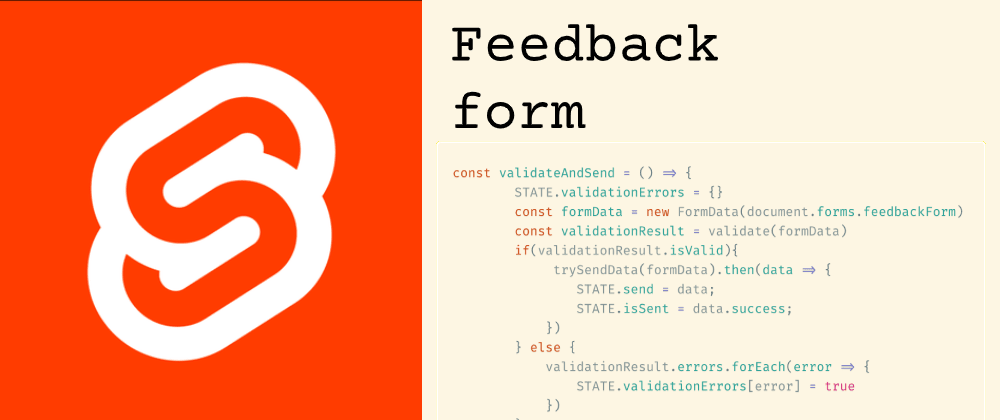 Cover image for Feedback form with Svelte