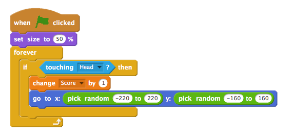 image of scratch code in action