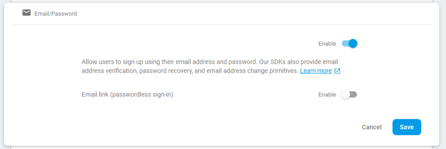 """Setup Email Address Config within Authentication page."""