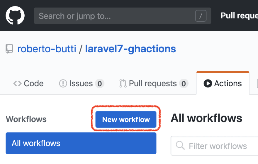 Create a new workflow