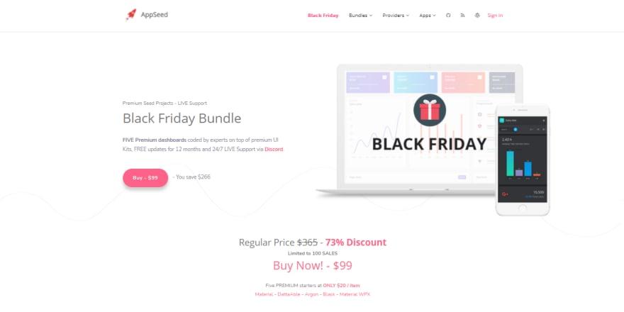Black Friday - AppSeed offer.