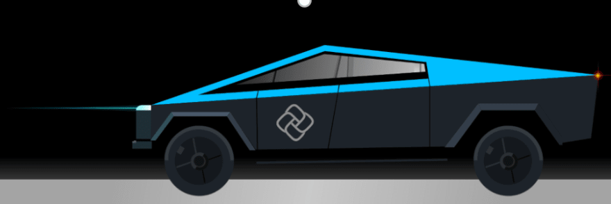 Cybertruck Blue XAML