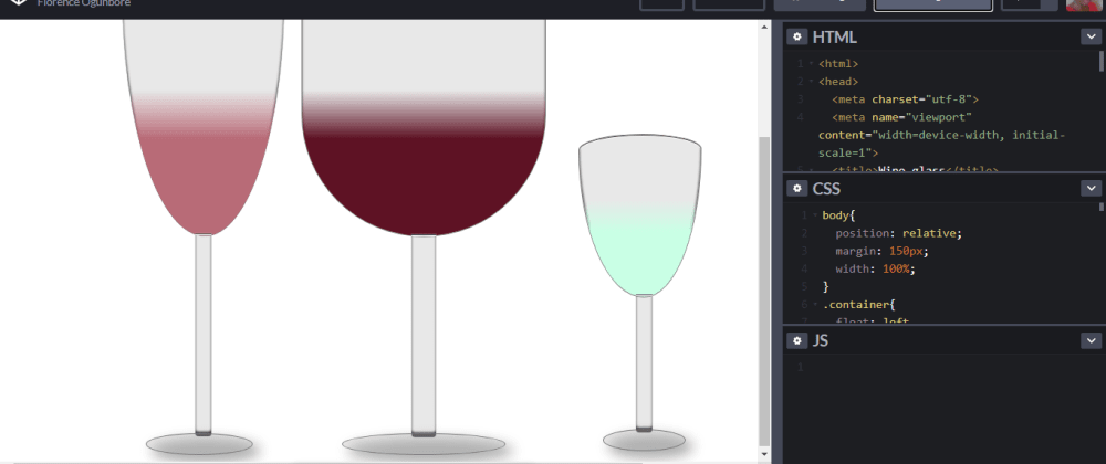 Cover image for How To Make Wine Glasses With Pure HTML & CSS