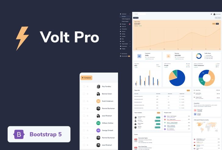 Volt Pro Bootstrap 5 Admin Template