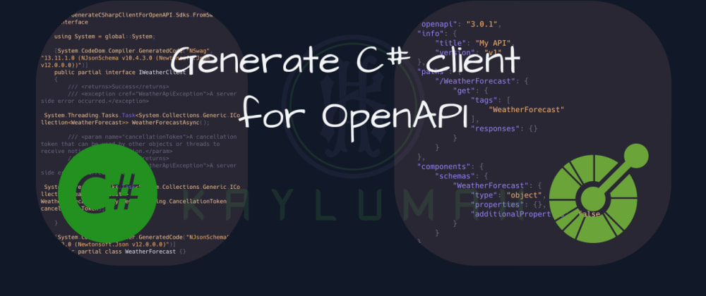 Cover image for Generate C# client for OpenAPI