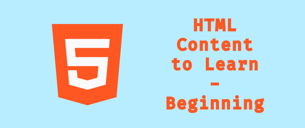 Cover image for HTML Content to Learning - Beginning