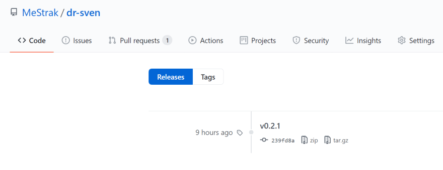 Release version shown in GitHub
