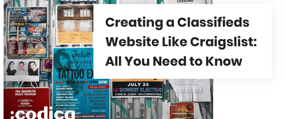 Cover image for How to Build a Classifieds Website Like Craigslist