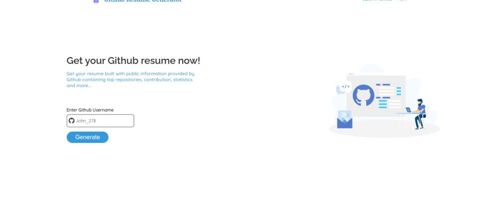 Cover image for Github Resume Generator