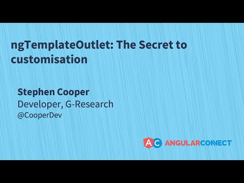ngTemplateOutlets: The secret to customisation