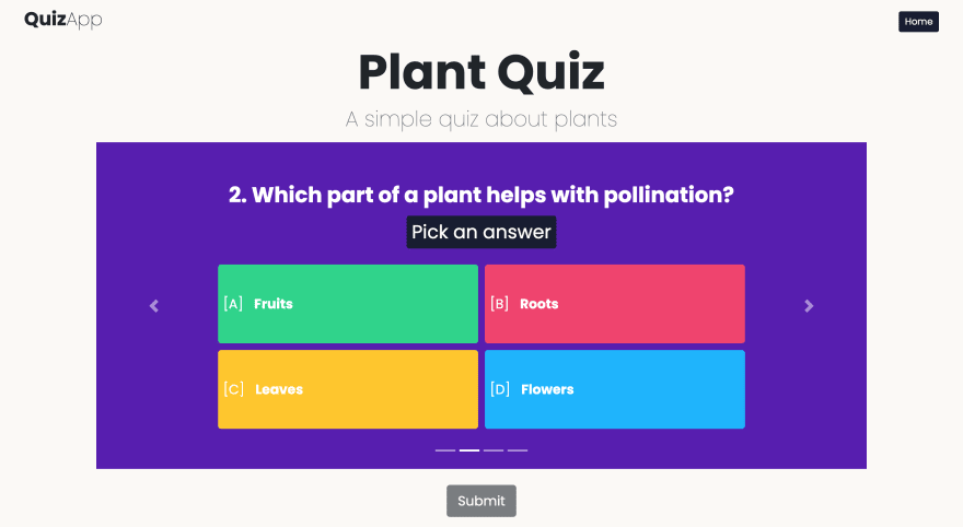The Quiz Page