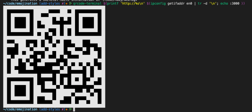 QRCode in the terminal
