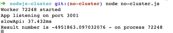 Screenshot of CLI with same number as before
