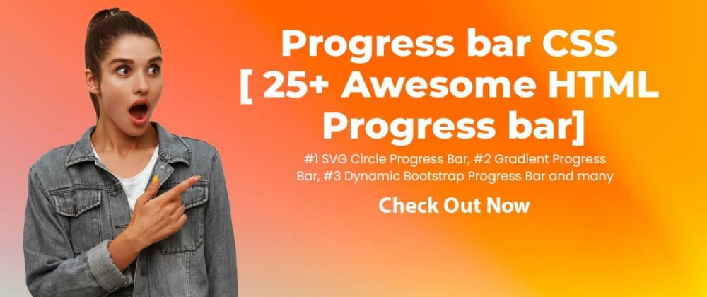 Cover image for 25+ Awesome HTML Progress bar